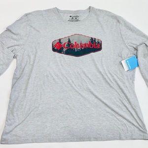 NWT 3XL Colombia Long Sleeve Tshirt Gray
